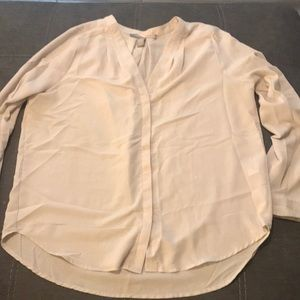 Nude Long Sleeve Button Down